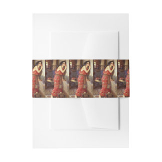 Thisbe by John William Waterhouse Invitation Belly Band