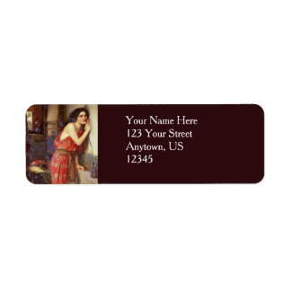 Thisbe by John William Waterhouse Label