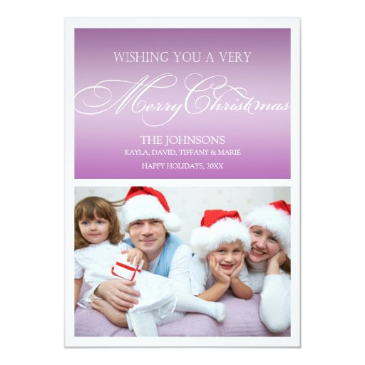 Thistile Purple Holiday Photo Cards