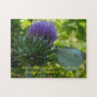 Thistle and Butterfly Puzzle