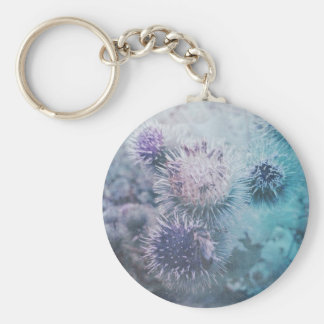 Thistle bloom winter keychain