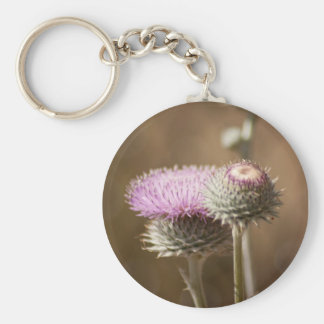 Thistle Blossom Keychain