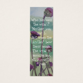 Thistle Bookmark Mini Business Card