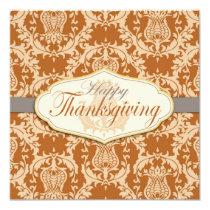 Thistle Damask Thanksgiving Card