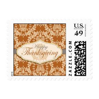 Thistle Damask Thanksgiving Postage