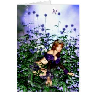 Thistle Fairie Blank Card