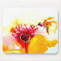 """""""Thistle for One"""" Hummingbird Print on Mouse Pad"""