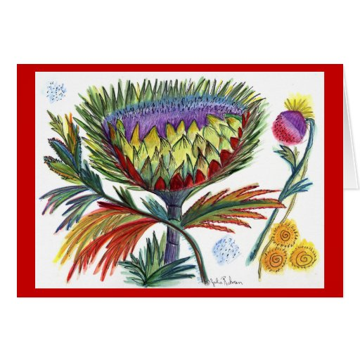 Thistle Holiday Greeting Greeting Card