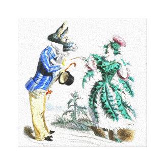 Thistle Lady Canvas Print