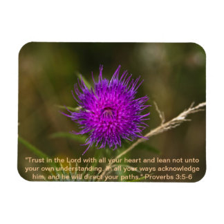 Thistle Magnet w/Scripture Verse