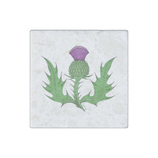 Thistle Marble Magnet Stone Magnet