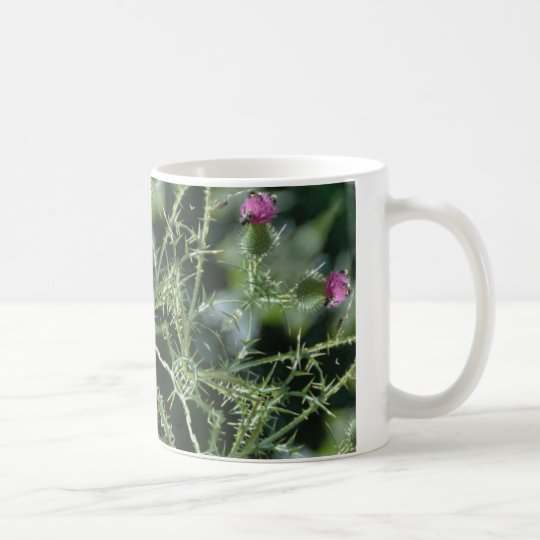Thistle Photo Mandala Coffee Mug