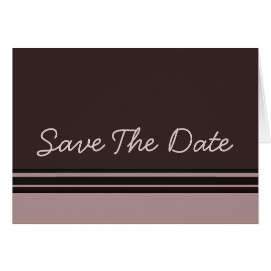 thistle plum striped Save the Date Card