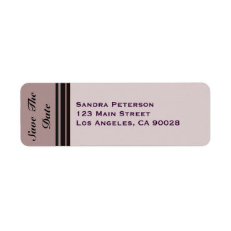 thistle plum striped Save the Date Label