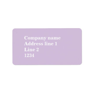 Thistle purple label