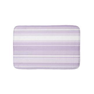 Thistle purple stripes bathroom mat