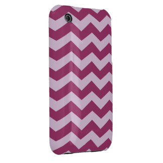 Thistle Purple Zig Zag Pattern iPhone 3 Cover