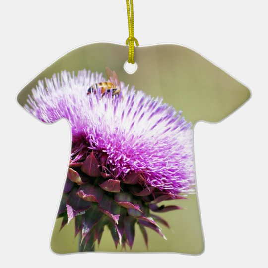 """""""Thistle with Bee""""  collection Ceramic Ornament"""