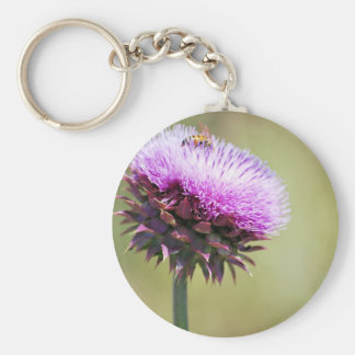 """Thistle with Bee""  collection Keychain"