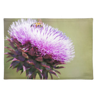 """""""Thistle with Bee""""  collection Placemat"""