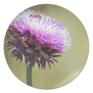 """Thistle with Bee""  collection Dinner Plates"
