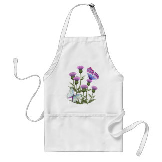 Thistles and Butterflies Adult Apron
