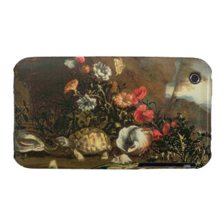 Thistles, flowers, reptiles and butterflies beside iPhone 3 Case-Mate case