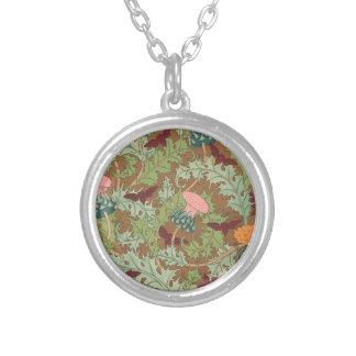 Thistles Round Pendant Necklace