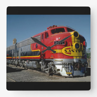 ThisUSA, AT & SF EMD F7A_Trains of the World Square Wall Clock
