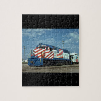 ThM-K-T EMD GP-40 #200, with caboose_Trains Jigsaw Puzzle