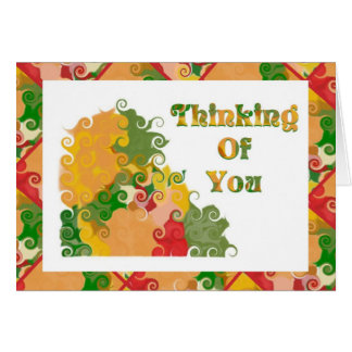 Thnking Of You Fall Color Swirls Card