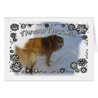 Thnow Thucks! Card