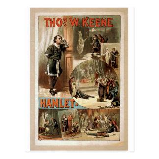Tho. W. Keene, teatro retro de Hamlet Tarjetas Postales