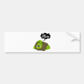 Thog Smash Bumper Sticker