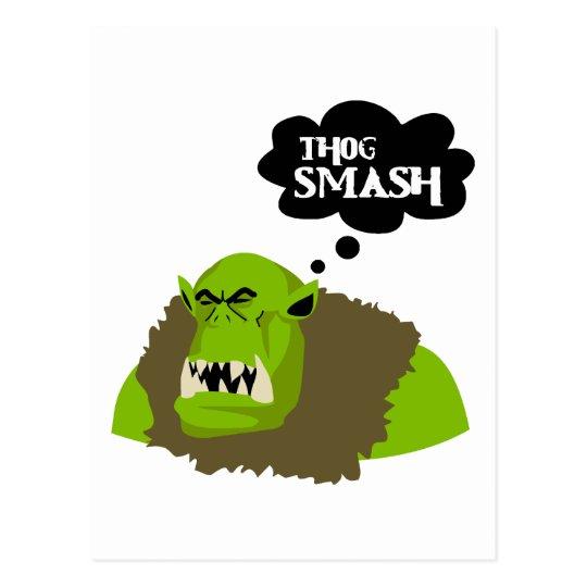 Thog Smash Postcard