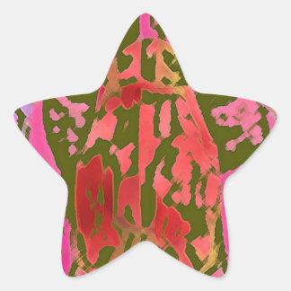 Thoghts de la araña pegatina en forma de estrella