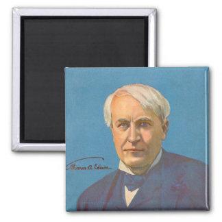Thomas A. Edison 2 Inch Square Magnet