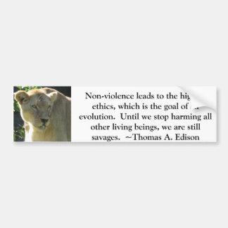 Thomas A Edison Animal Rights quote Bumper Sticker