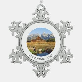 Thomas A. Moulton Barn Snowflake Pewter Christmas Ornament