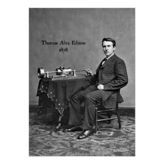 Thomas Alva Edison, 1878 Poster