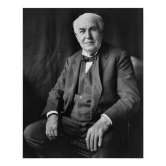 Thomas Alva Edison Portrait Posters