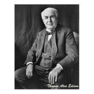 Thomas Alva Edison Postales