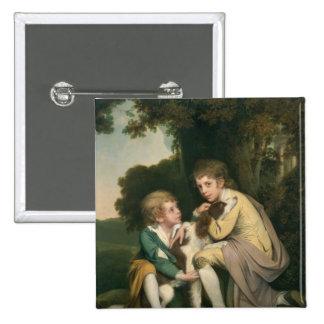 Thomas and Joseph Pickford as Children, c.1777-9 Button