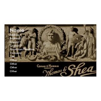 Thomas and Shea, 'Cohan & Harris' Retro Theater Business Card
