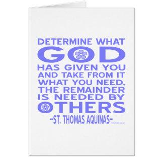Thomas Aquinas God Given Light Blue Card
