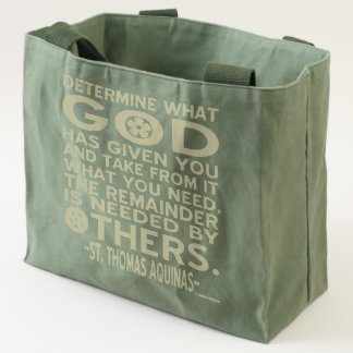 Thomas Aquinas Quote God Given Needed Others Tote