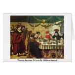 Thomas Aquinas, St.Louis By German Niklaus Manuel Greeting Card