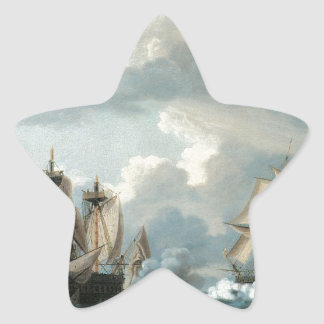 Thomas Birch The Macedonian and the United States Star Sticker