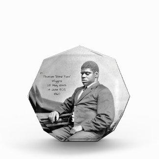 "Thomas ""Blind Tom"" Wiggins, 1860 Acrylic Award"