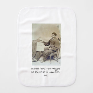 "Thomas ""Blind Tom"" Wiggins, 1861 Baby Burp Cloth"